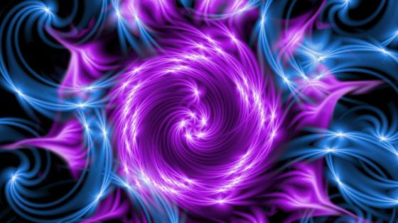 Sparkling swirls digital art wallpaper