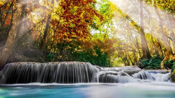 Erawan Falls In Kanchanaburi Province, Thailand wallpaper