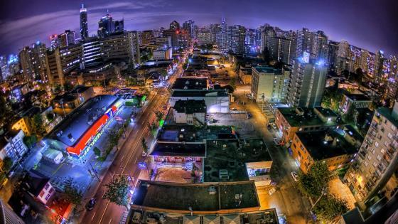 Vancouver - Fisheye lensphotography wallpaper