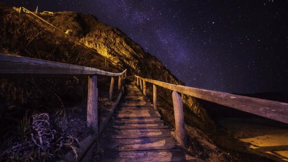 Trail to Milky Way wallpaper