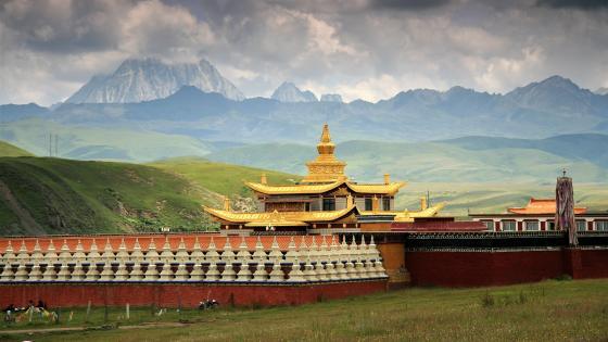 Muya Golden Pagoda - Tibet wallpaper