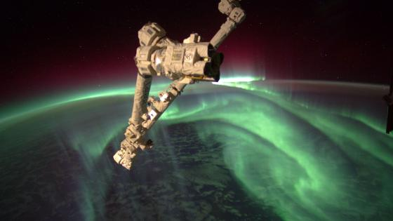 Southern lights - Aurora Australis from the space wallpaper