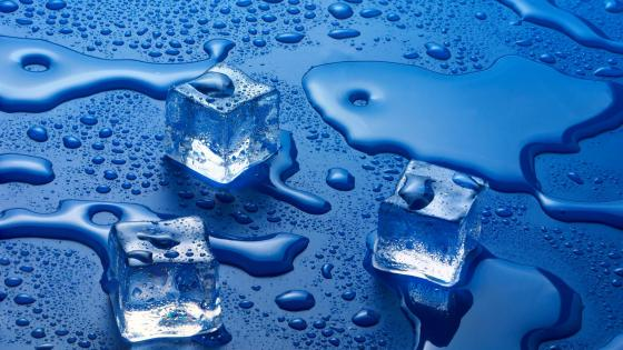 Melting ice cubes wallpaper