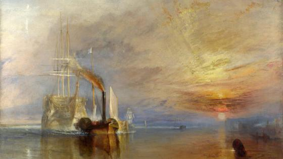 The Fighting Temeraire - Painting art wallpaper