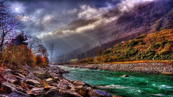Beautiful November in Switzerland wallpaper