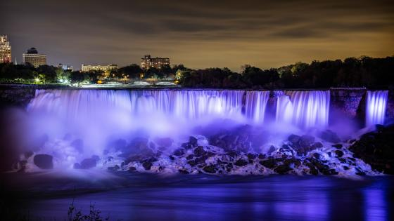 Niagara Falls at night wallpaper