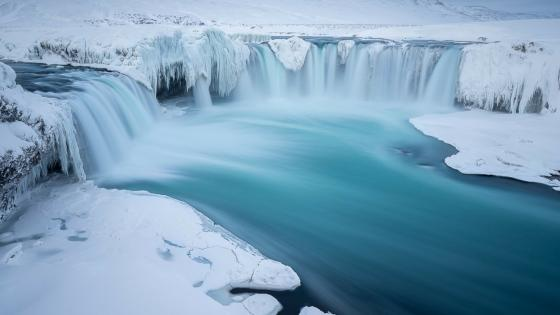The Waterfall of The Gods - Godafoss, Iceland wallpaper