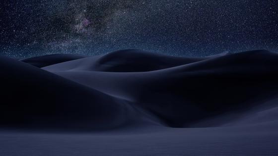 Desert dunes under the Milky Way ✨ wallpaper