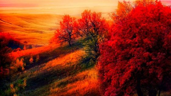 Mount Chatyr Tau at sunset, Tatarstan, Russia wallpaper