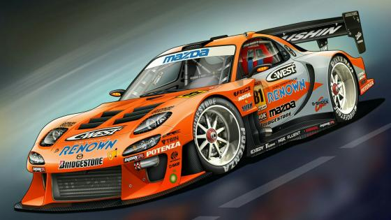 Mazda RX-7 race car wallpaper