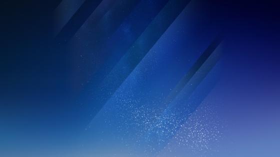 Blue sparkling background wallpaper