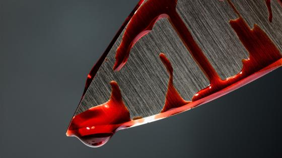 Bloody knife wallpaper