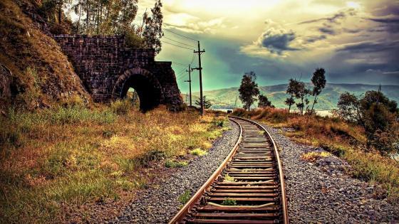 Trackway wallpaper