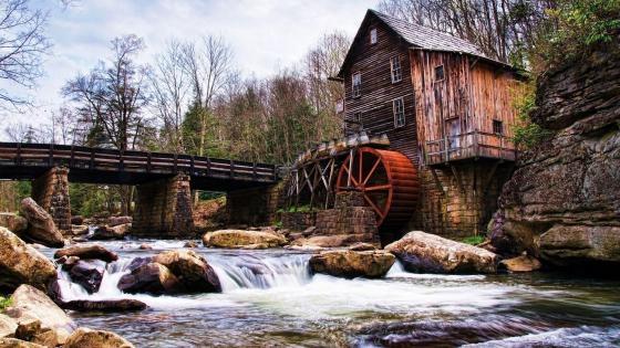 Babcock State Park, Glade Creek Grist Mill wallpaper