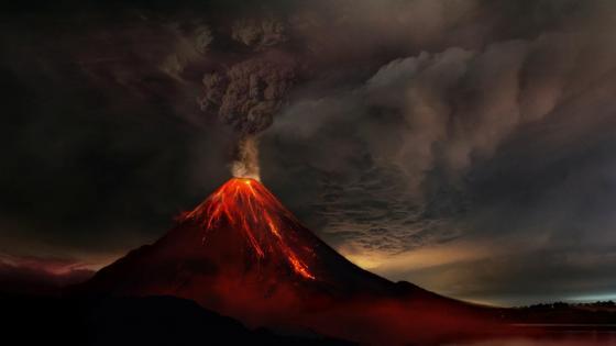 Volcanic eruption wallpaper