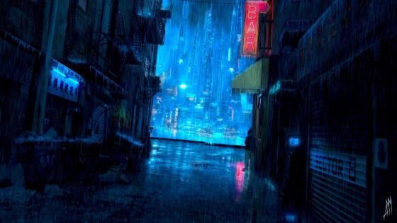 Rainy night wallpaper