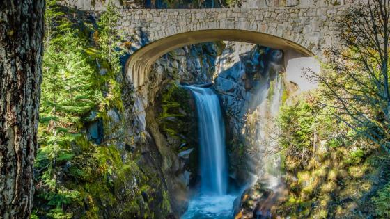 Christine Falls - Mount Rainier National Park wallpaper