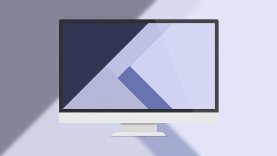 Computer monitor - Material Design wallpaper