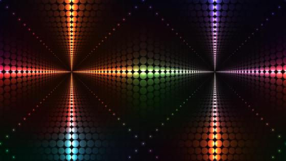 3D Neon shining cross - Digital art wallpaper