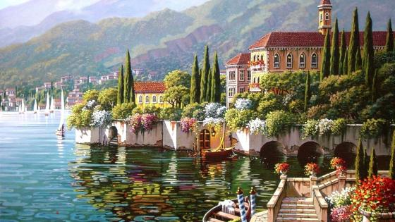Varenna - Lake Como, Italy wallpaper