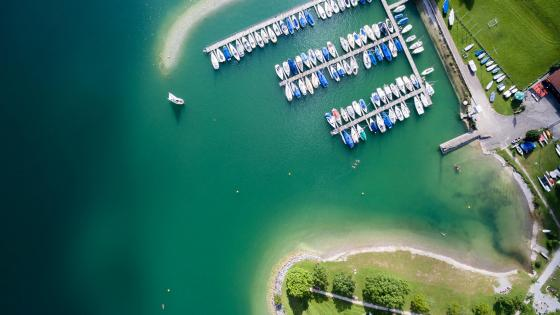 Osterreinen aerial photography wallpaper