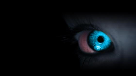 Blue eyes close-up wallpaper