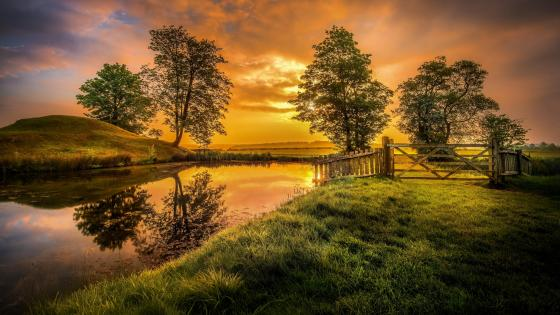 Early morning in Lyveden - United Kingdom wallpaper