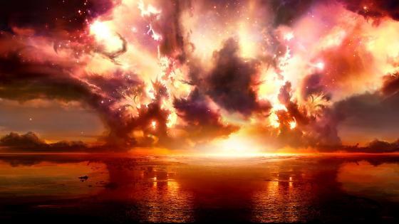 Fantasy explosion wallpaper
