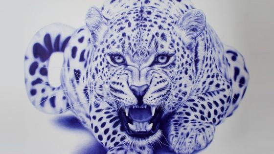 Leopard graphic art wallpaper