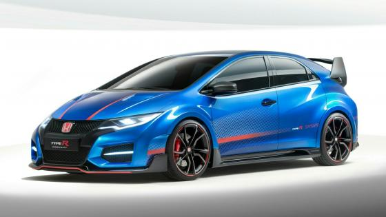 Blue Honda Civic Type R 2015 wallpaper