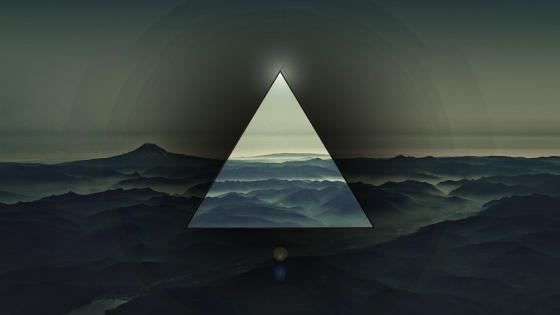 Triangle Polyscape wallpaper