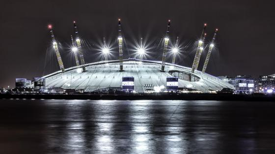 O2 Arena at night - London wallpaper