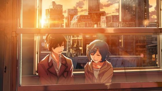 Train ride - Anime art wallpaper