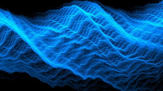 Futuristic energy wave wallpaper