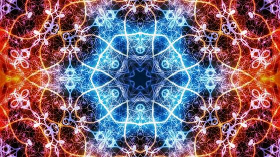 Vibrant kaleidoscope art wallpaper