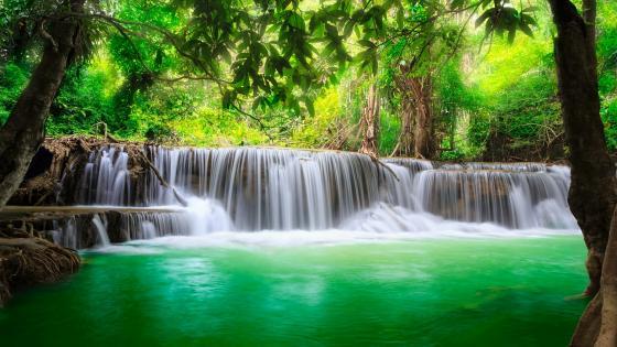 Erewan Waterfalls - Kanchanaburi, Thailand wallpaper
