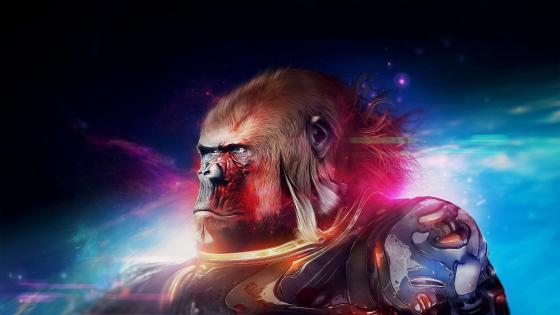 Space Gorilla - Fantasy art wallpaper