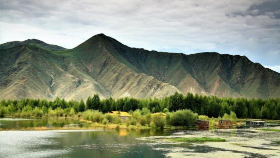 Lhasa River - Tibet wallpaper