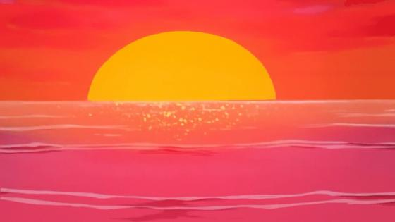 Sunset on the horizon wallpaper