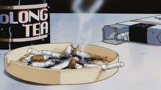 Cigarettes in the ashtray - Anime art wallpaper