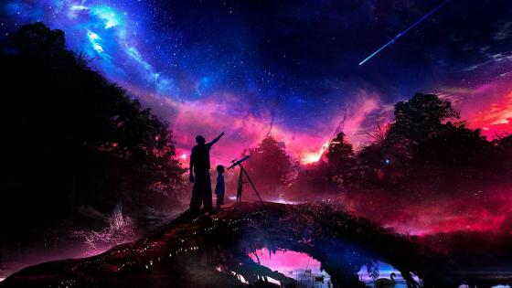 Shooting Star - Fantasy art wallpaper