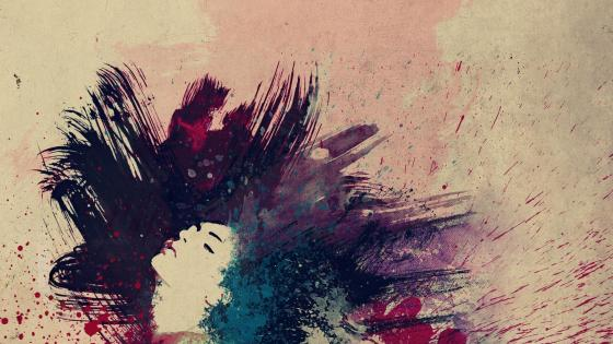 Abstract face painting art wallpaper