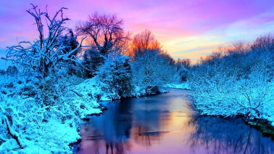 Frozen landscape wallpaper