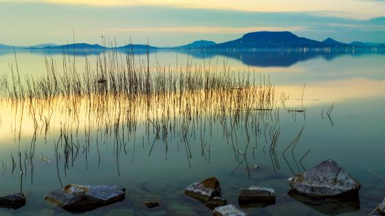 Lake Balaton and Badacsony wallpaper