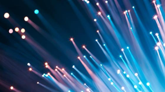 Blue cable lights wallpaper