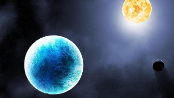 Earth, moon and sun ☀️ wallpaper
