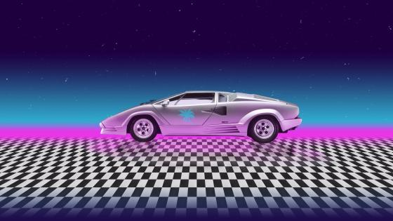Miami car neon art wallpaper