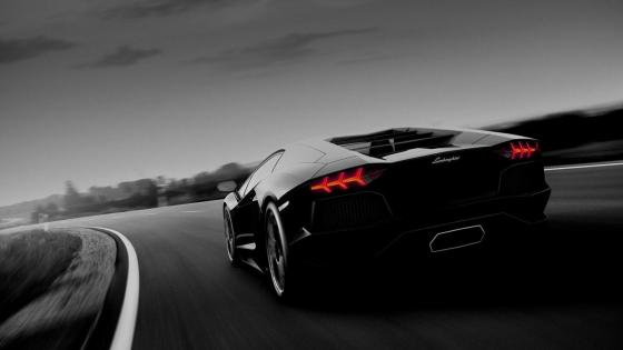 Black Lamborghini Aventador wallpaper