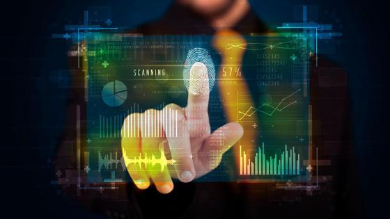 Fingerprint scanner wallpaper
