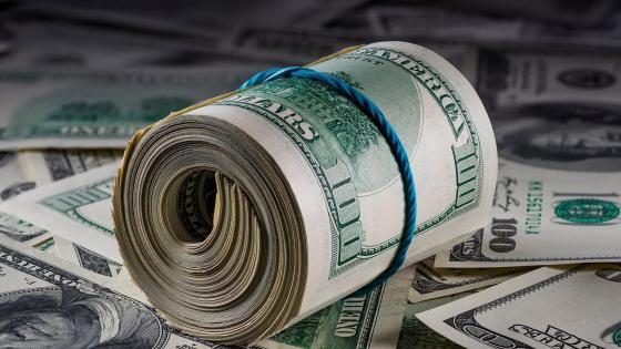 Bundle of money wallpaper